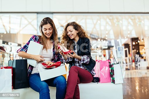 istock Women in the shopping mall 622768076