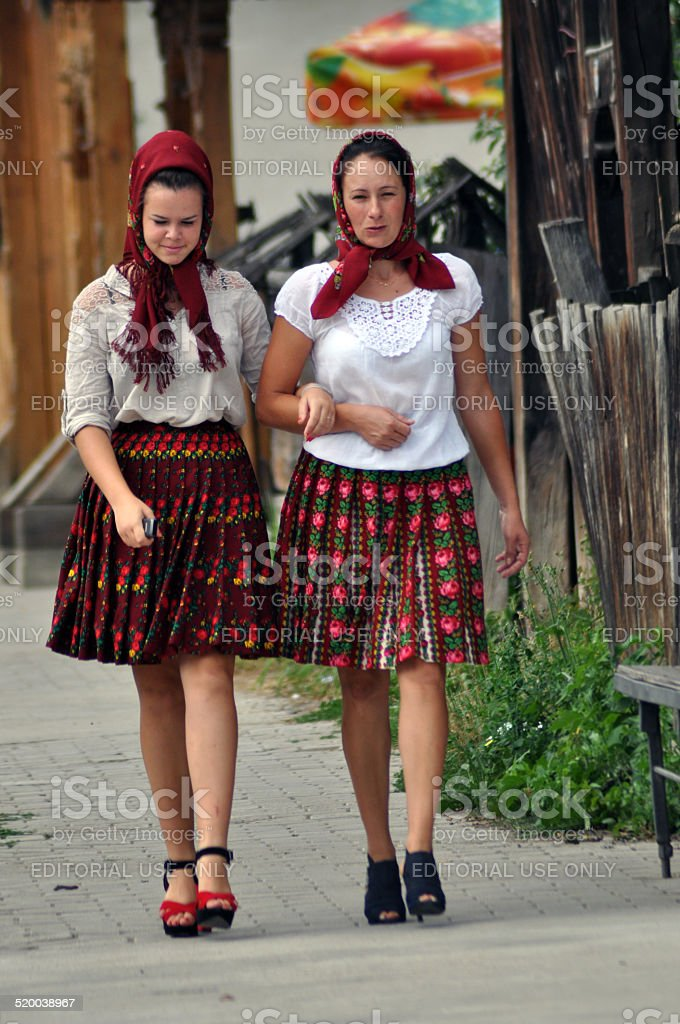 Women In Traditional Romanian Clothes Stock Photo & More ...