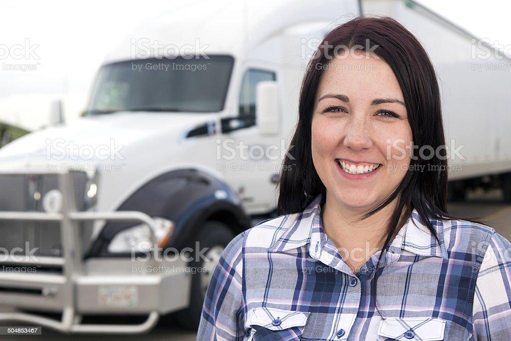 Women in Trucking royalty-free stock photo