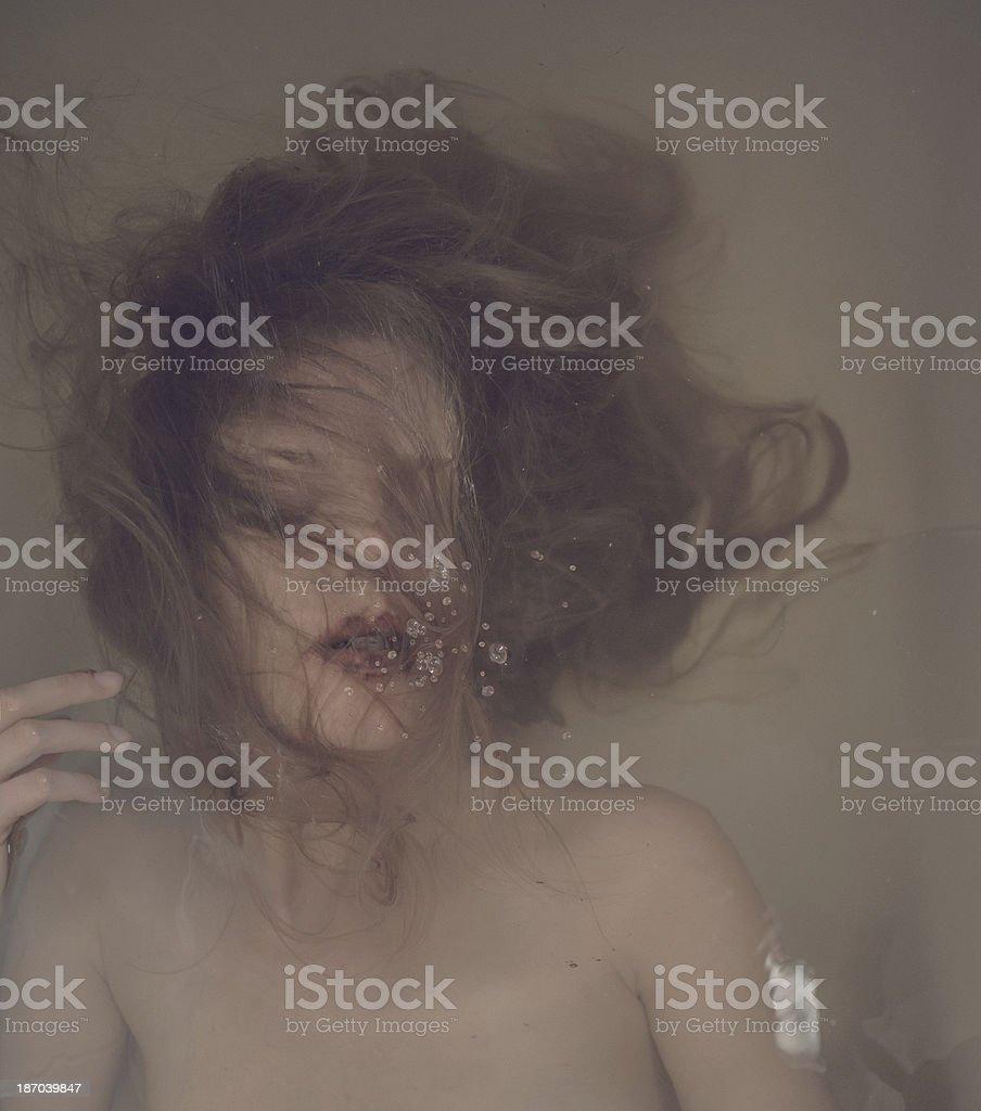 women in water stock photo