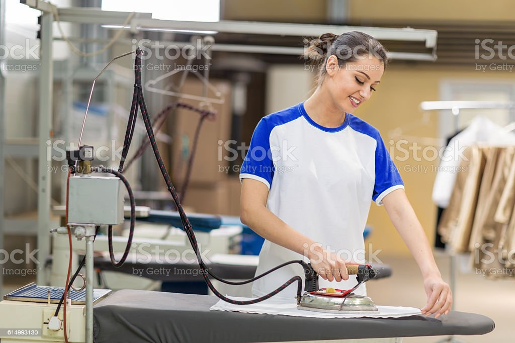 Women iron stock photo