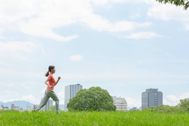 女性のジョギング ストックフォト