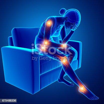istock Women joint pain 675488336