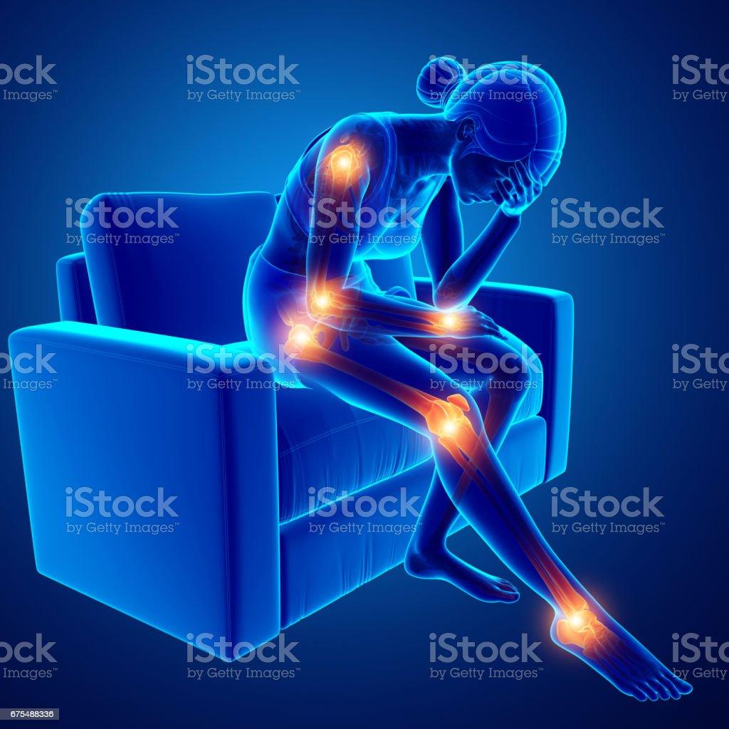 Women joint pain stock photo