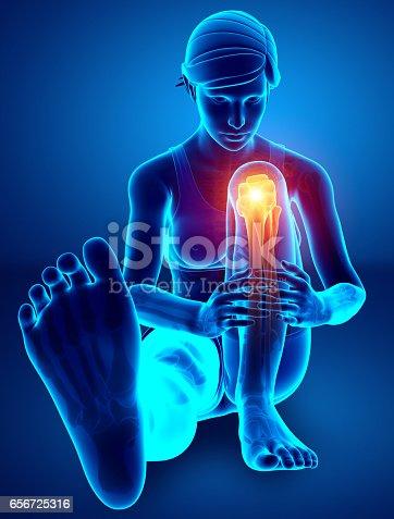 istock Women Knee joint pain 656725316