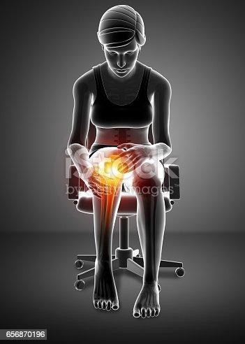 istock Women Knee joint pain 656870196