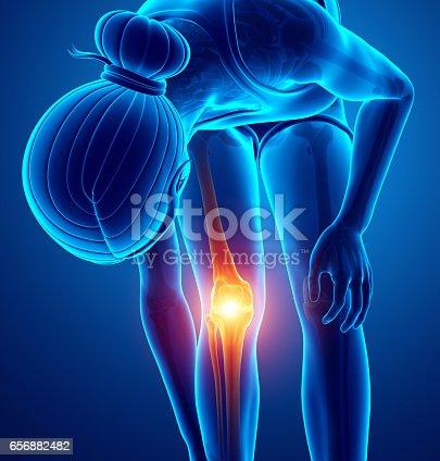 istock Women Knee joint pain 656882482