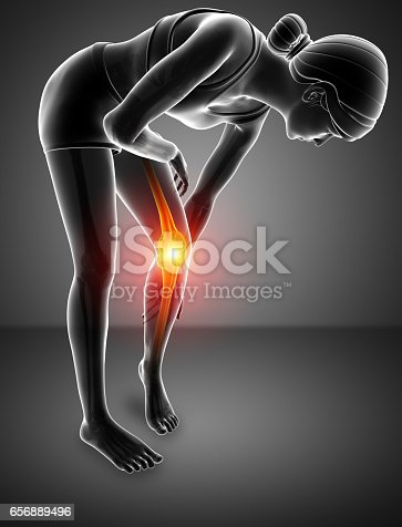 istock Women Knee joint pain 656889496
