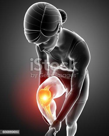 istock Women Knee joint pain 656889650