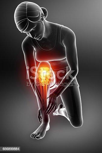 istock Women Knee joint pain 656899884