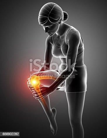 istock Women Knee joint pain 656902282