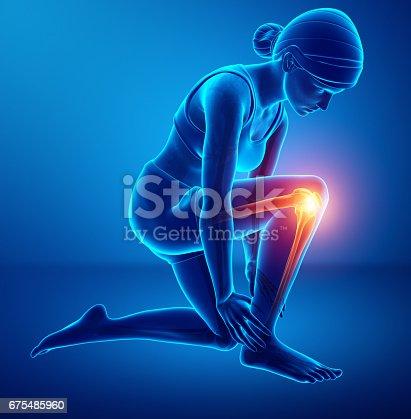istock Women Knee joint pain 675485960