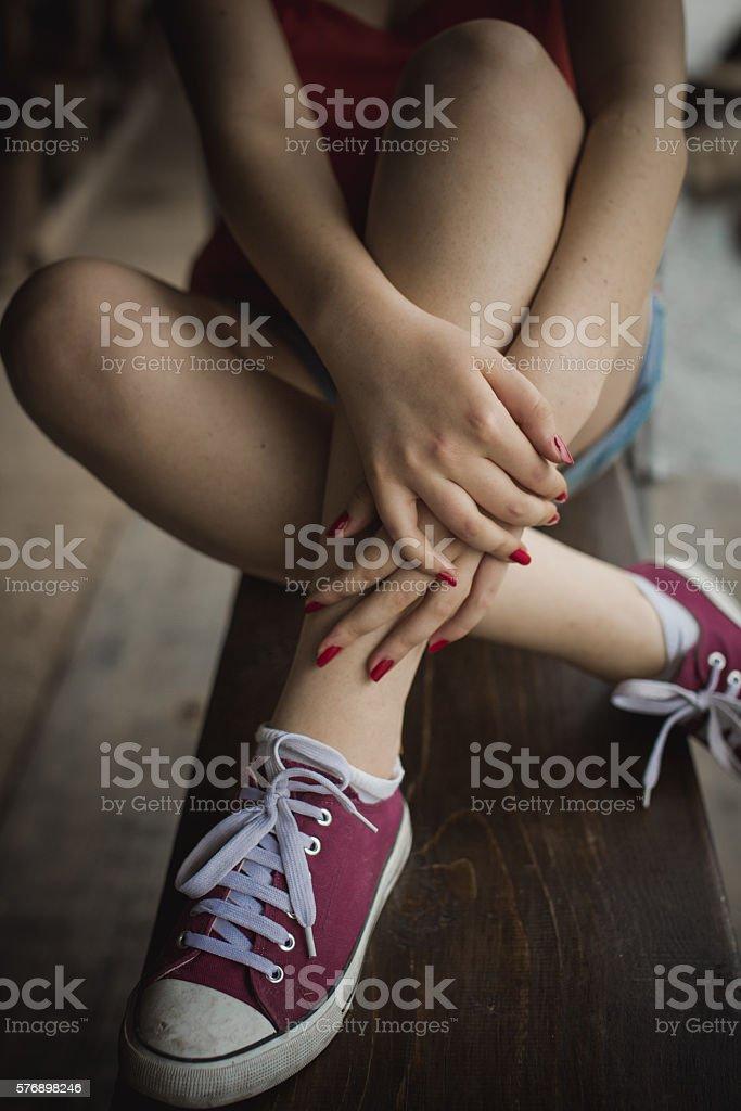 Mulheres nas pernas - foto de acervo