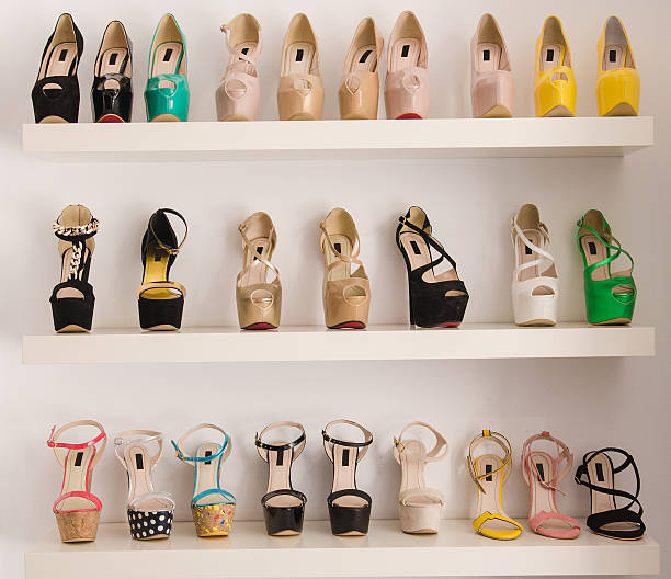 women luxury shoes - shoe stock photos and pictures