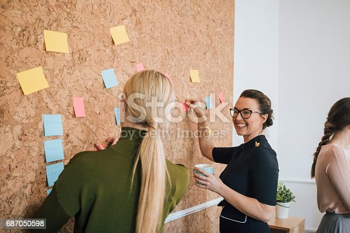 istock Women Making Business Notes 687050598