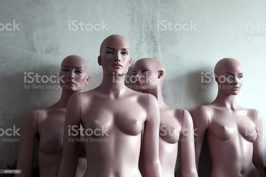 Women mannequins. royalty-free stock photo