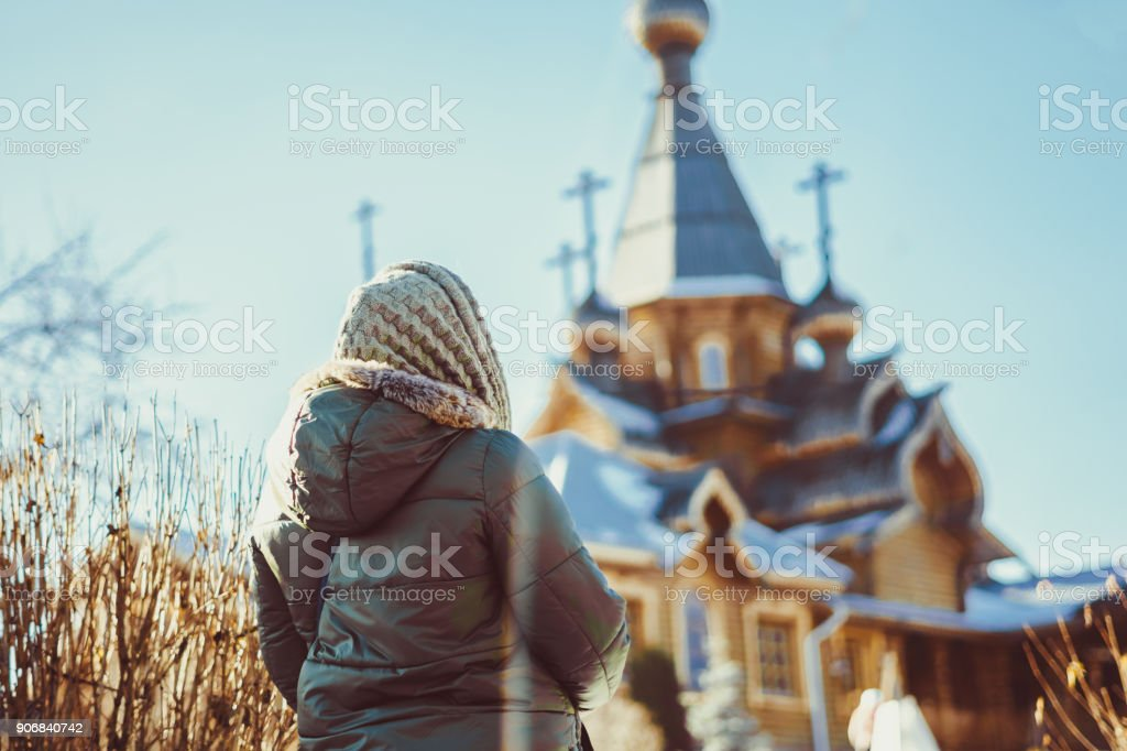 women of the Orthodox Church stock photo