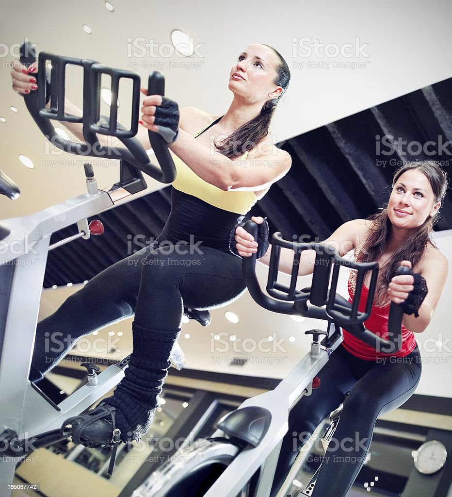 Women on spinning royalty-free stock photo
