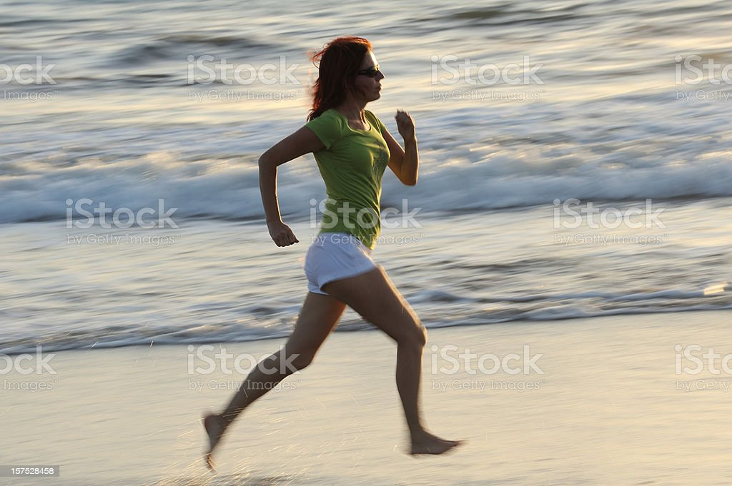 Women on the beach royalty-free stock photo