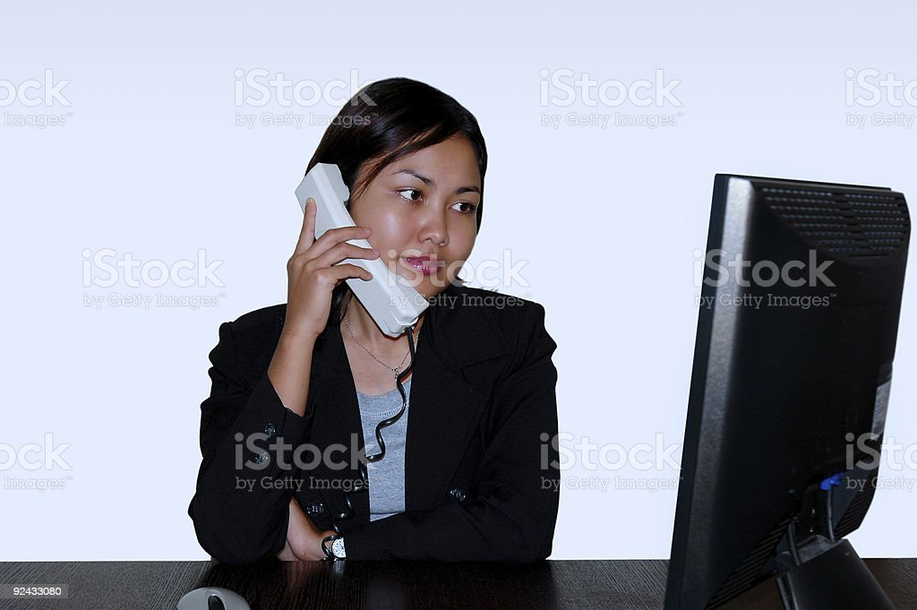 Women on the phone royalty-free stock photo