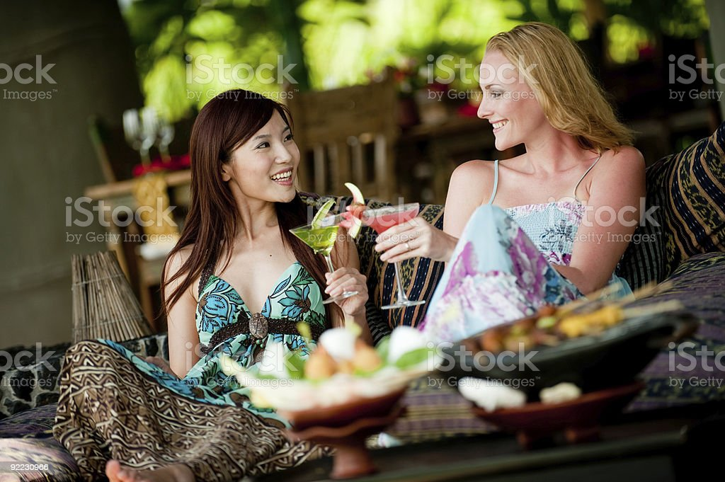 Women On Vacation royalty-free stock photo