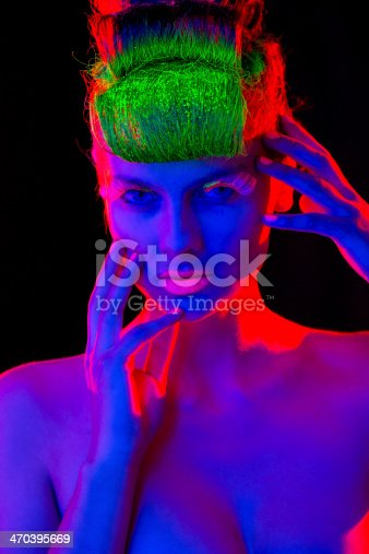 1071416330 istock photo Women Portrait in Neon Lights 470395669