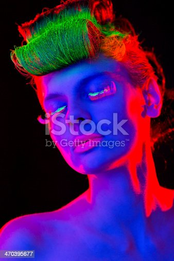 1071416330 istock photo Women Portrait in Neon Lights 470395677