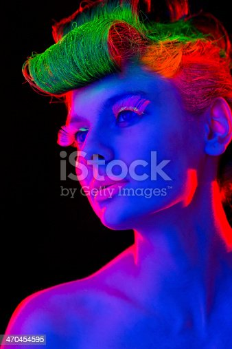 1071416330 istock photo Women Portrait in Neon Lights 470454595