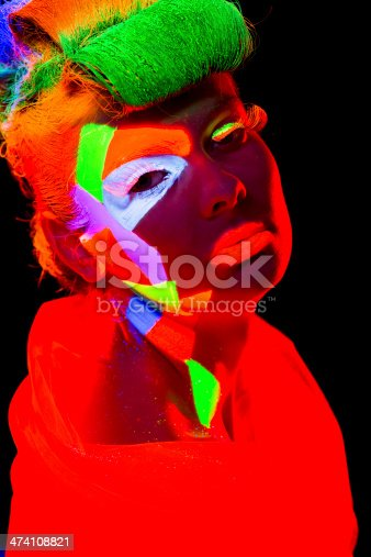 1071416330 istock photo Women Portrait in Ultraviolet Light 474108821