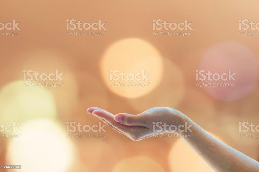Women prayer hand praying for holy spirit and world religion day...