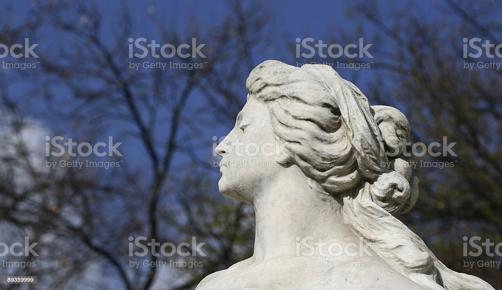 Women profile - marble sculpture royaltyfri bildbanksbilder