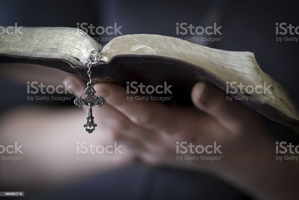 Women Reading the Bible royalty-free stock photo