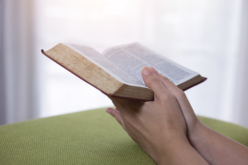 Women reading the Holy Bible,Reading a book.