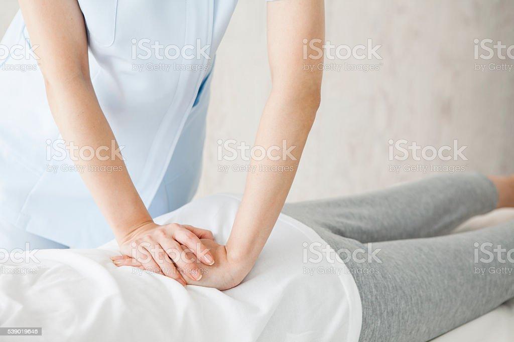 Nas natural massagem costas