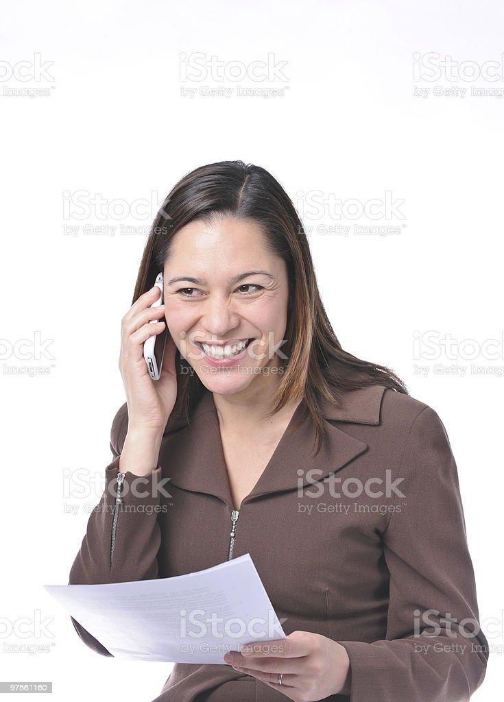 Femmes de recevoir de bonnes nouvelles photo libre de droits