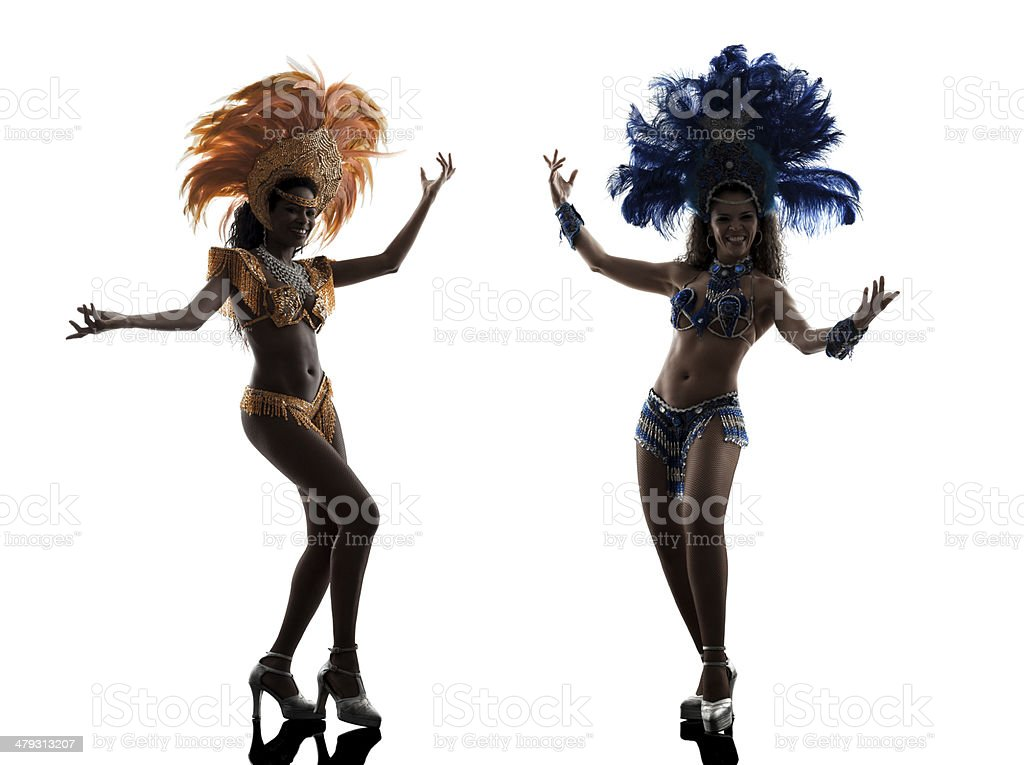 women samba dancer silhouette stock photo