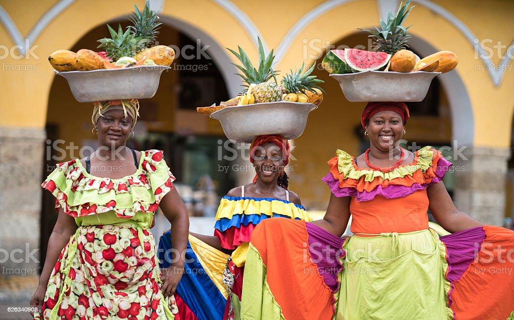 Women selling fruits in Cartagena – Foto