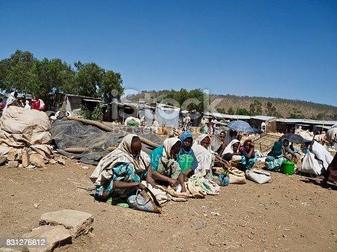 istock Women selling grains in a market in Aksum 831276612