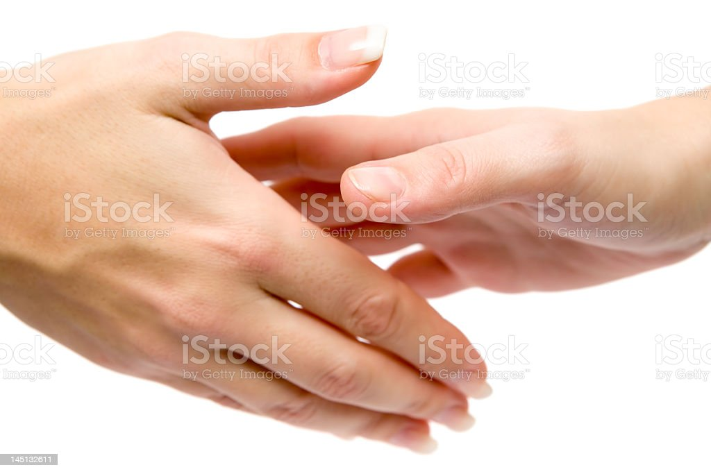 Women Shaking Hands stock photo