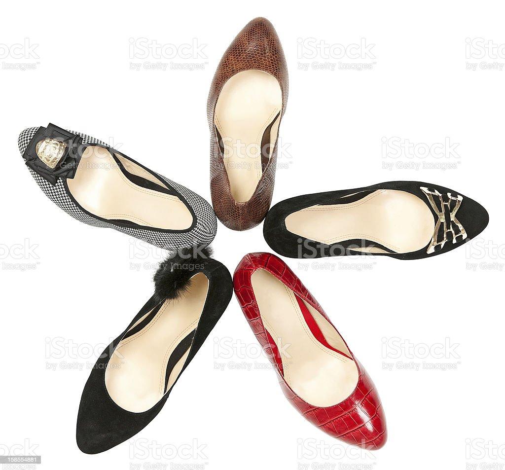 여자대표 신발도 인 서클 격리됨에 over 인명별 royalty-free 스톡 사진