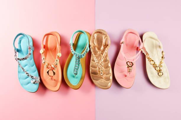 여자대표 신발도 - 샌들 뉴스 사진 이미지