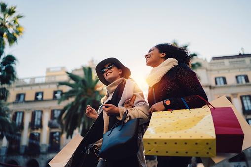 Women shopping in Barcelona