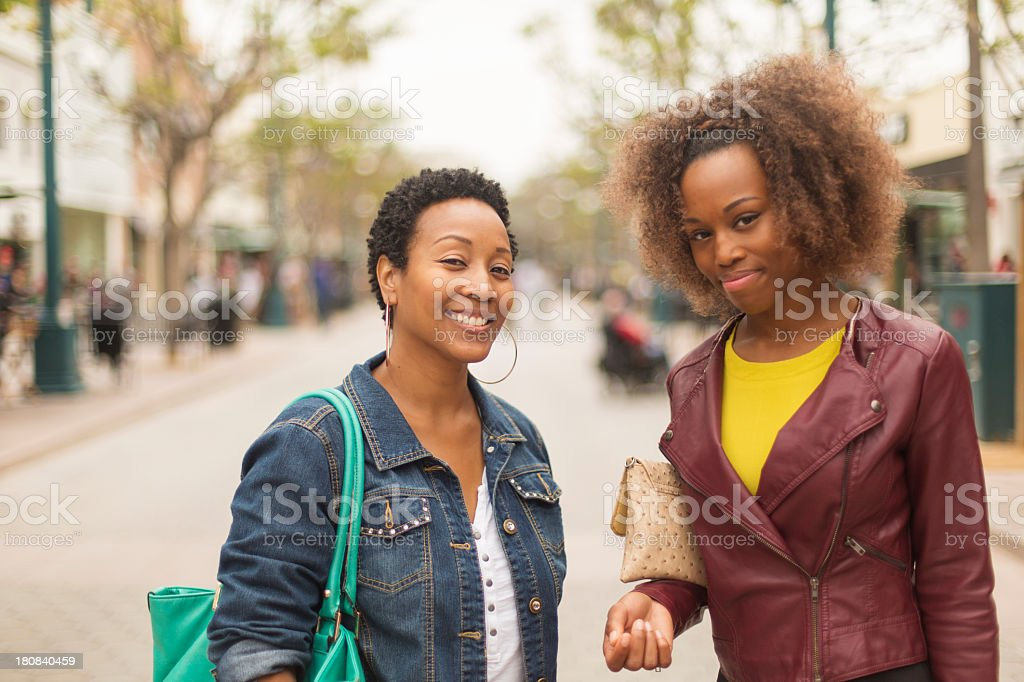 Women Shopping royalty-free stock photo