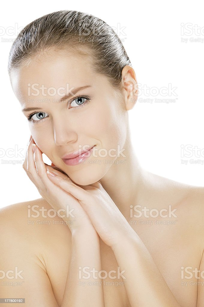 Women skin care royalty-free stock photo