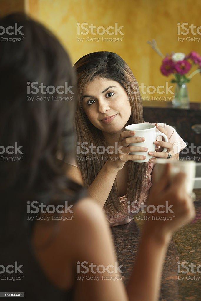Women Socialize in Kitchen royalty-free stock photo