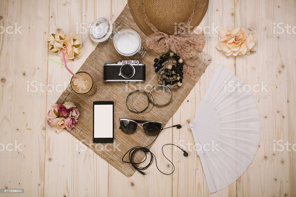 Mujeres accesorios de verano - foto de stock