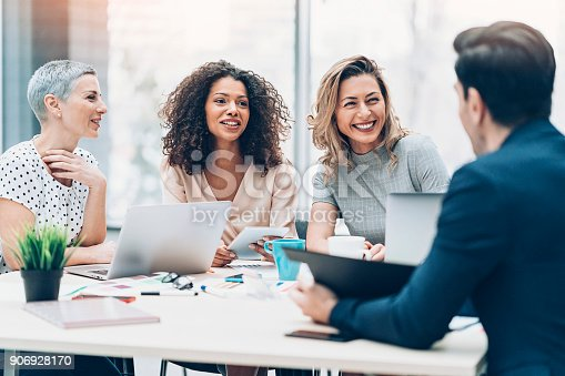 istock Women take the leading role in business 906928170