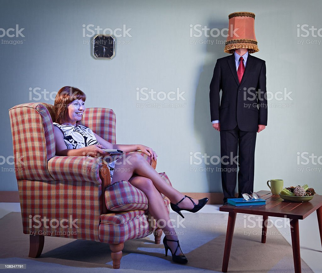 Women takes husband for granted stock photo