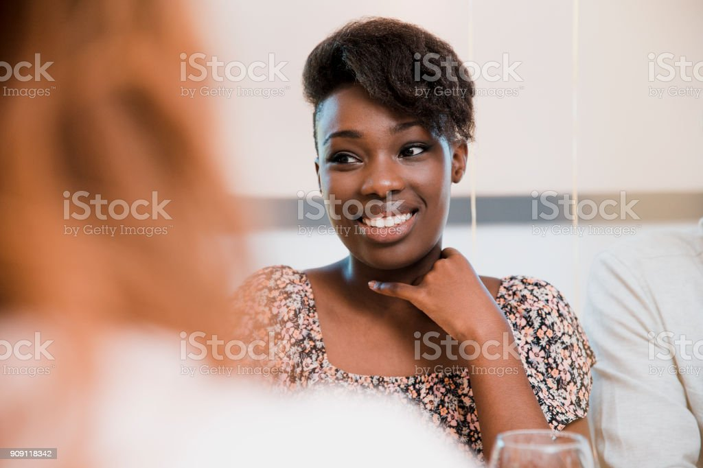 Women Talking to Each Other stock photo