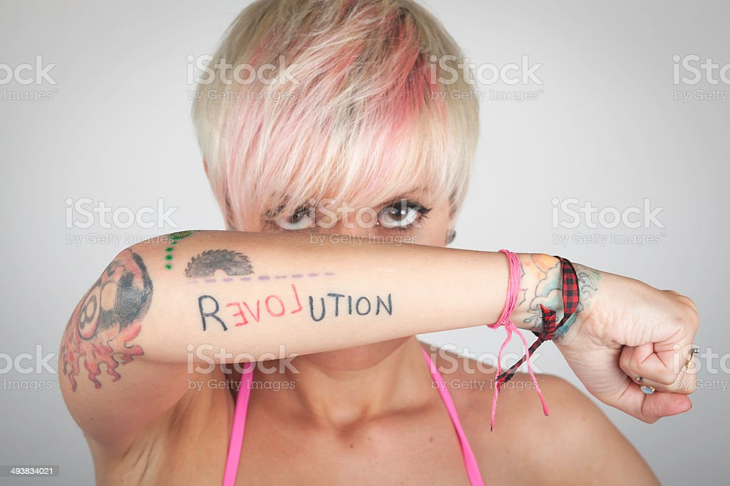 Women Tattooed Arm stock photo